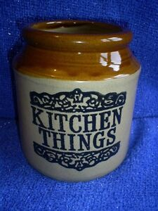 Moira Stoneware Kitchen Things Jar VGC