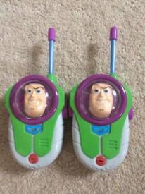 Toy story/buzz light year walkie talkies