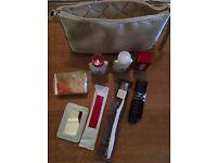 Bulgari travel kit: eau de cologne, body lotion, face emulsion, toothbrush etc.