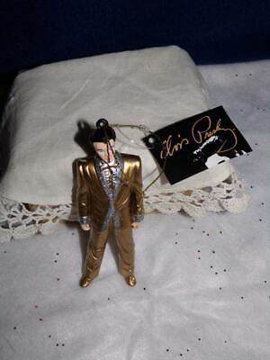 2008 Kurt S. Adler ELVIS PRESLEY Ornament Elvis in Gold Lame Suit