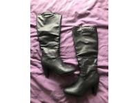 Brand New Black Boots - size 7