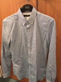 French Connection blue spotted shirt
