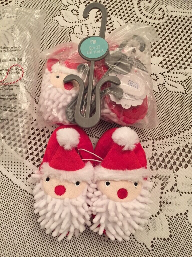 Brand new Mothercare Santa slippers