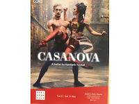 A ticket (one) for CASANOVA ballet by Kenneth Tindall at Sadler's Wells Theatre