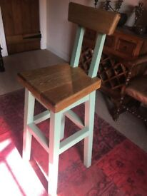 Handmade 100% Solid Wood High style table and 4 high-back chairs