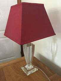 Red Lamp And Shade In Perfect Condition Virtually New From A Smoke Free Home