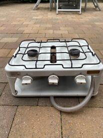 Gas portable stove with frying pan