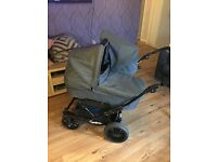 Emmaljunga Double Viking twin Pram/Buggy. This is 2 years old and im good condition.