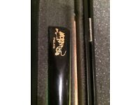 Brand New Panther 2 Piece Cue win Slide on Extension and Case