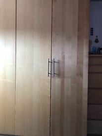 Ikea Pax Double Wardrobe Birch