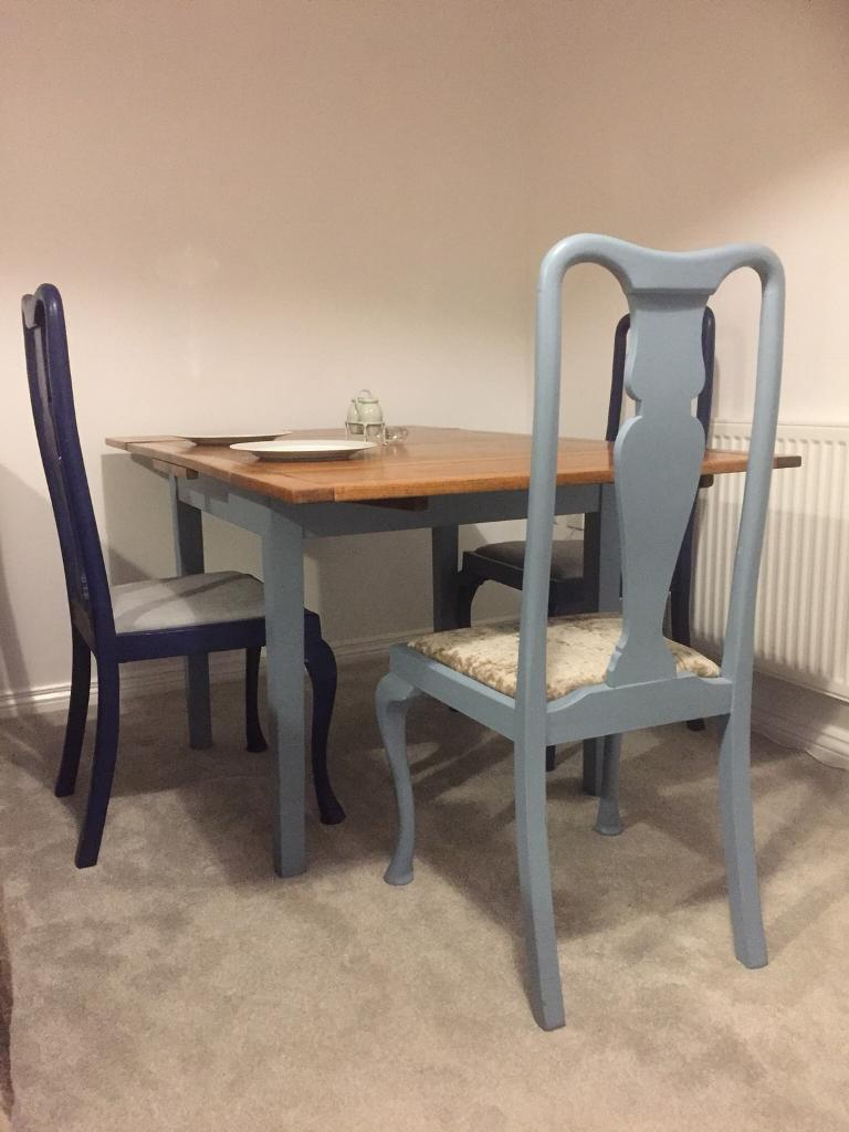 Pleasing Vintage 1940S Extendable Solid Oak Table 4 X Queen Anne Chairs In Norwich Norfolk Gumtree Dailytribune Chair Design For Home Dailytribuneorg