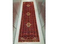 Hand Made Persian Rug Hamedan Runner 373x112 cm