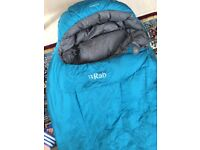 RAB Andes 800 Down sleeping bag for sale