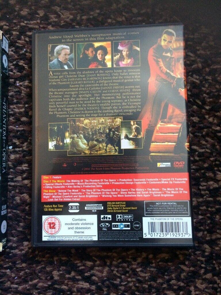The Phantom of the Opera (DVD) with sleeve | in Woodbridge, Suffolk |  Gumtree