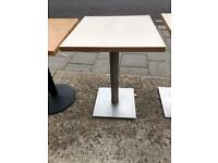 Table with metal leg