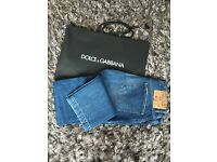Brand new authentic Dolce and Gabbana D&G jeans size 33 with tag slim fit