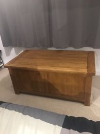 Solid Oak Blanket Box
