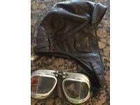Flat tank style 20s motorbike helmit