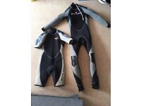 Bodyglove Therminator semidry diving wetsuit combo: 7mm full. 5mm shorty (medium long)