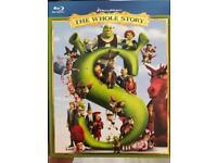 Shrek the whole story blu Ray set