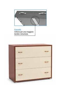 Como 39 maxy con 3 cassetti moderno per camera da letto col for Scrittoio ciliegio moderno