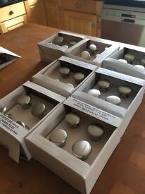 39 brushed steel door knobs for kitchen cupboards