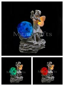 New Solar Fairy Statue- Fairy Garden Ornament Colour Changes x1