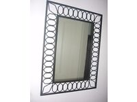 "Wrought iron mirror 24"" x 32"" (61cm x 82cm)"