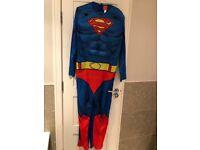 Superman fancy dress costume mens large