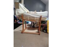 Mothercare moses basket and rocker