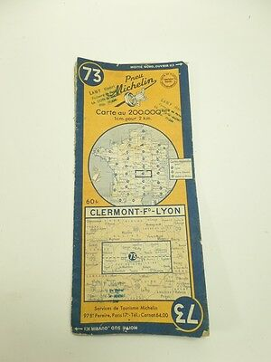Card Michelin #73 Clermont-Fd-Lyon 1948/Collector Bibendum Antique and Vintage