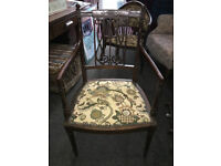 Desirable Victorian Ornately Carved Mahogany Carver Chair/Side Chair/Hall Chair/Bedroom Chair