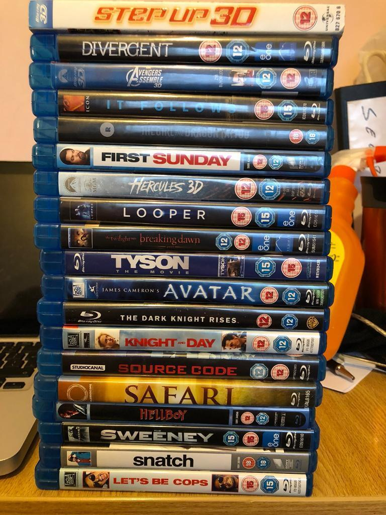 Blu-ray DVDs £35 for all or £2 each
