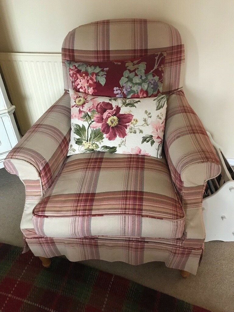 Laura Ashley Cambridge armchair Brodie loose covers | in ...