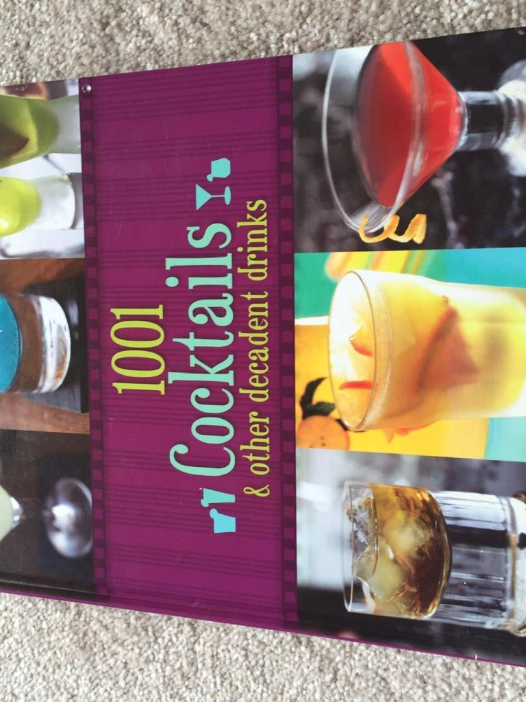 1001 cocktail hardback book
