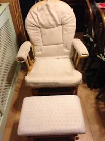 Rocker chair and footstool