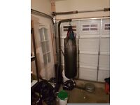 Gold's free standing punch bag