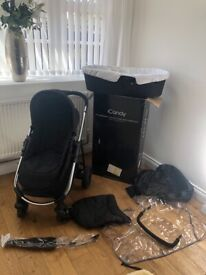 Icandy strawberry 2 pushchair and carrycot combo (unisex)