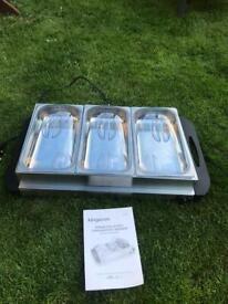 3 pan buffet heater