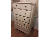 White Chest of 6 Drawers