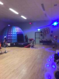 Bouncy castles and disco domes