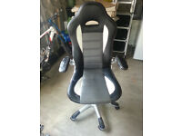 Computer chair, worn material on arm and part of seat, needs some tlc
