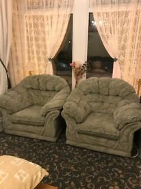 2 arm chairs and 1 settee good used condition