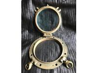 Solid brass porthole