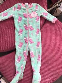 Peppa pig onesie - 2-3 years