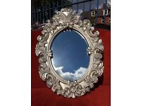 New French / Ornate / Rococo Silver Mirror - NEW - Stunning Detail - Hall Mirror - Reduced