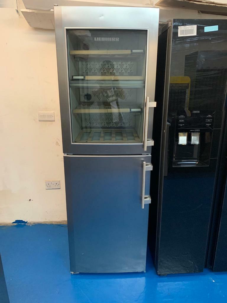 Libhere stainless steel good looking frost free glass door chiller/fridge  with freezer | in Bromford, West Midlands | Gumtree