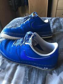 Nike Air Force 1 trainers blue size 12