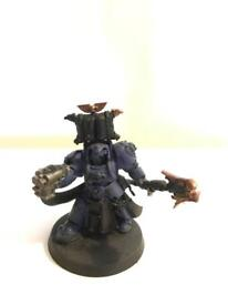 Space marine librarian in terminator Armor.