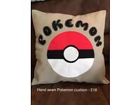 Hand sewn Pokemon cushion